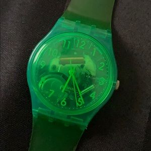 Neon Green Swatch Watch